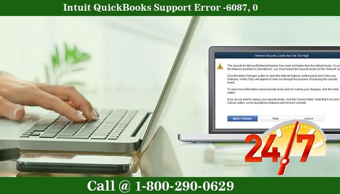 Get Intuit QuickBooks support for Error -6087, 0